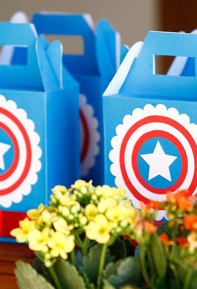Avengers party favors box