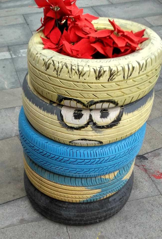 Tire Crafts: 65 ideas and photos to inspire your creation 18