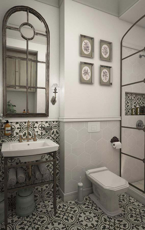 Provencal decoration in shades of black