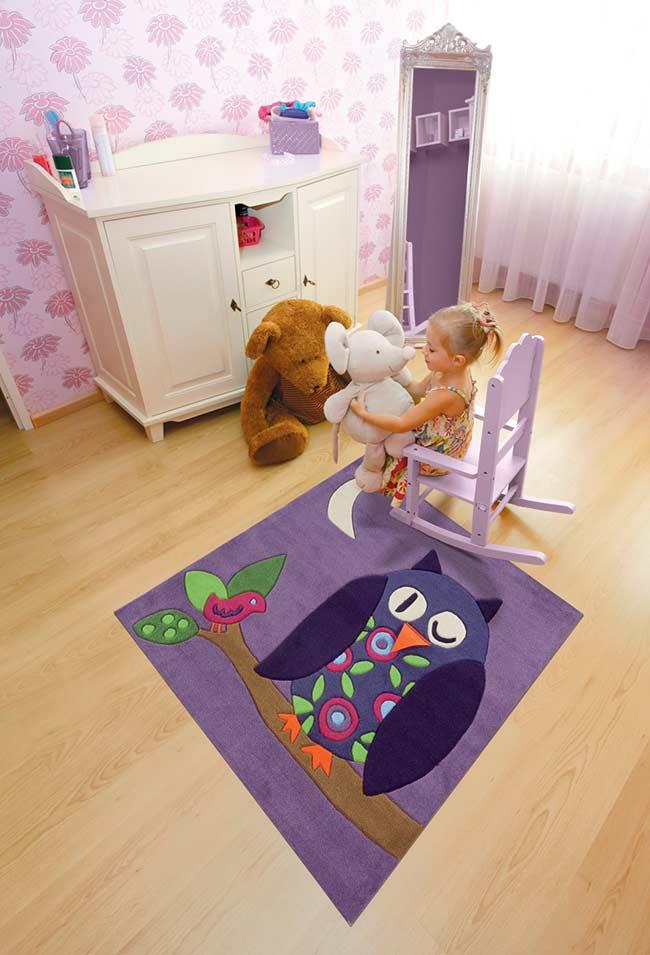 Owl Rug for Children's Room