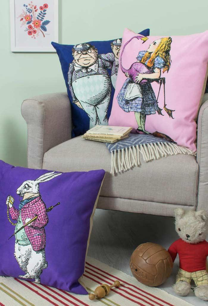 Pillows with characters