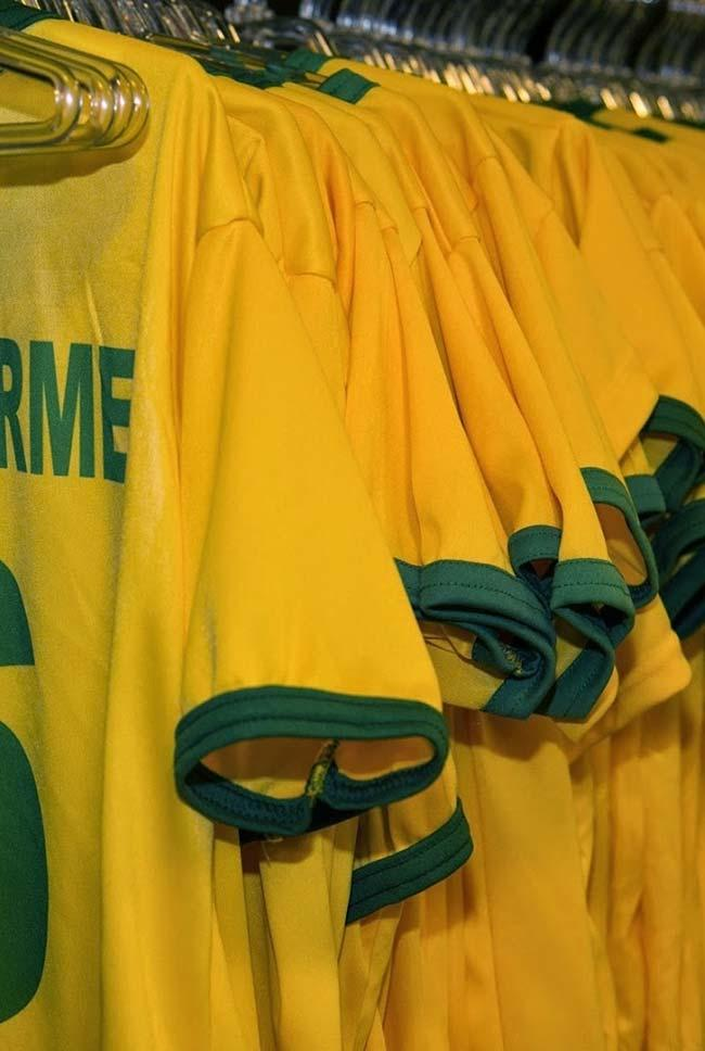 Selection t-shirts to decorate the party World Cup