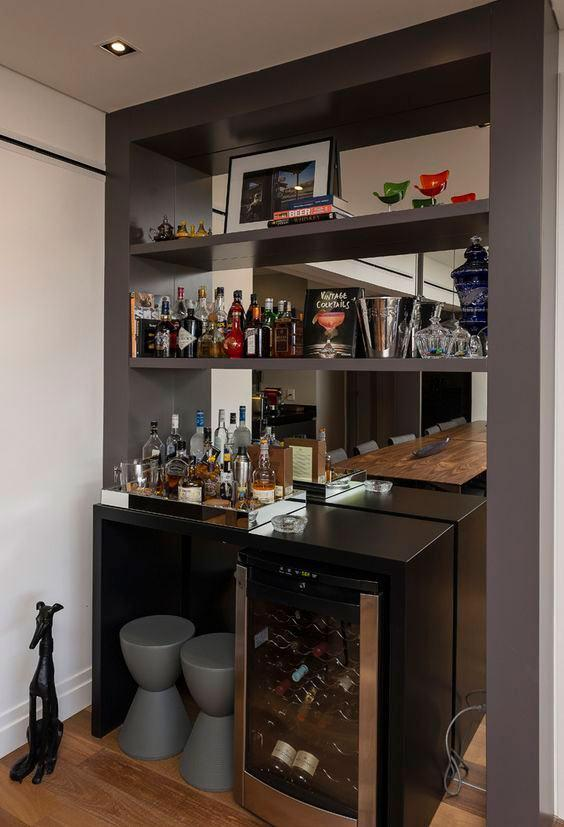 Wall bar: 60 amazing designs, designs and photos 27