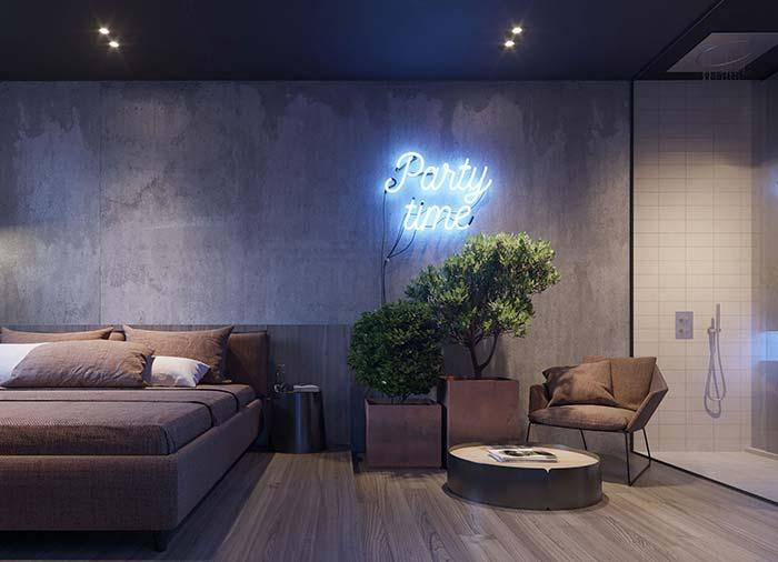 Modern decor with LED sign