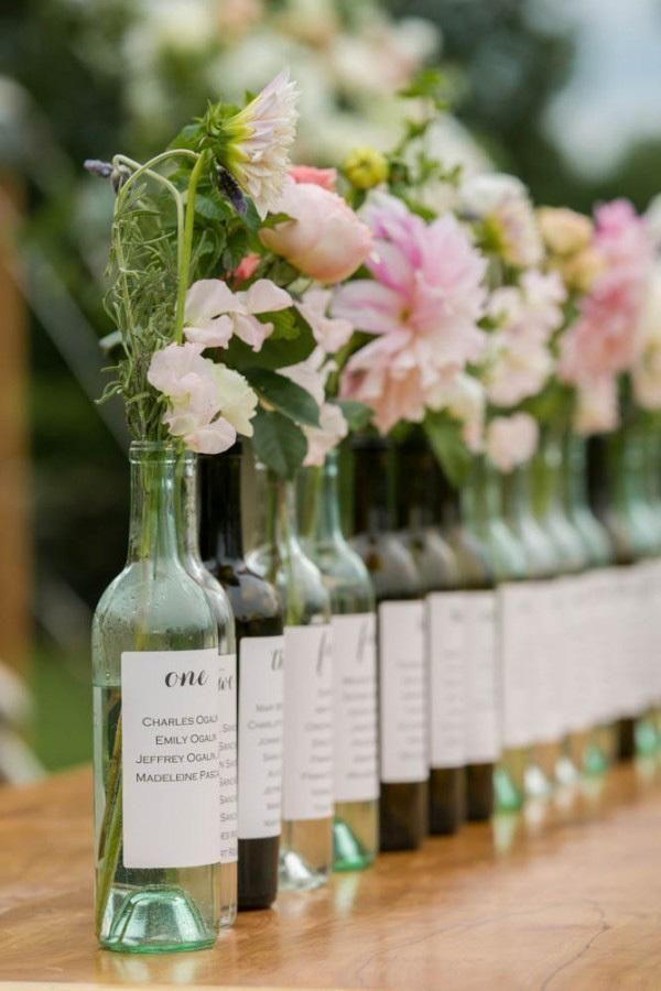Table Top with Bottle: see beautiful ideas to decorate the table 8