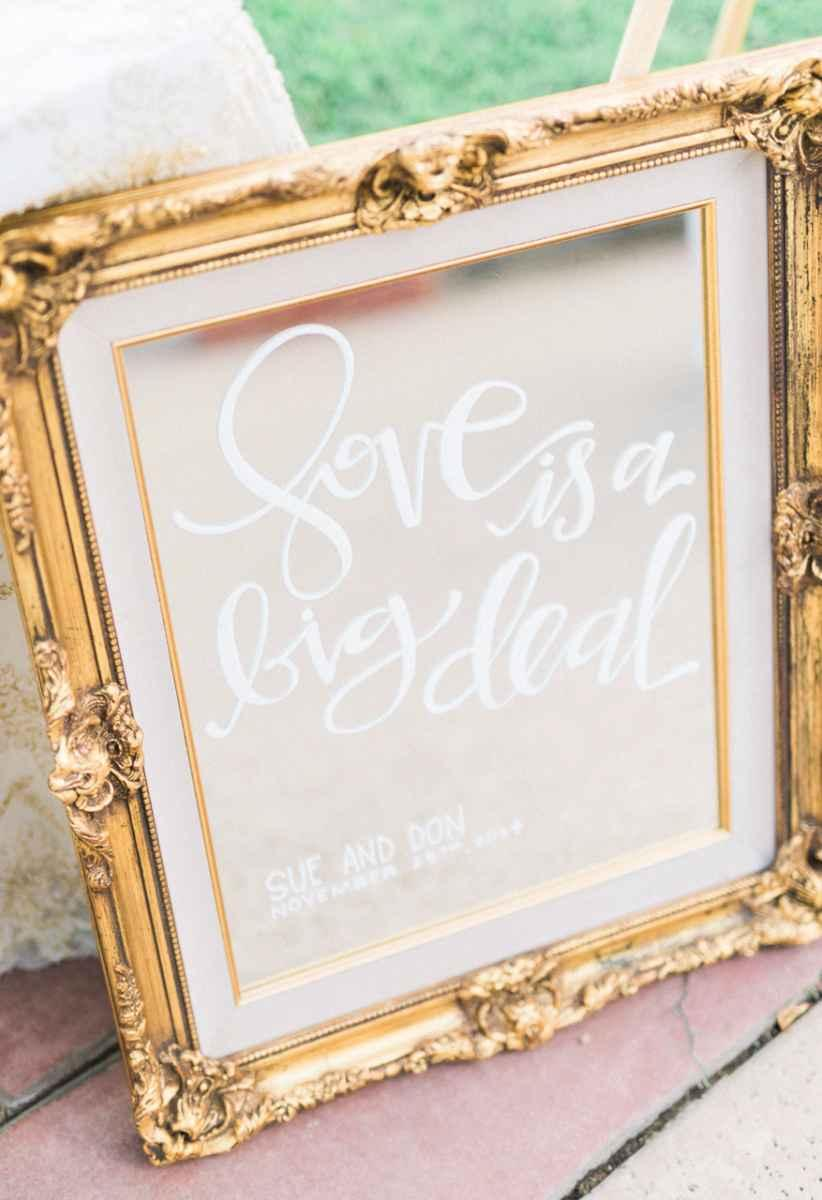 Golden wedding decoration: 60 ideas with photos to inspire 24