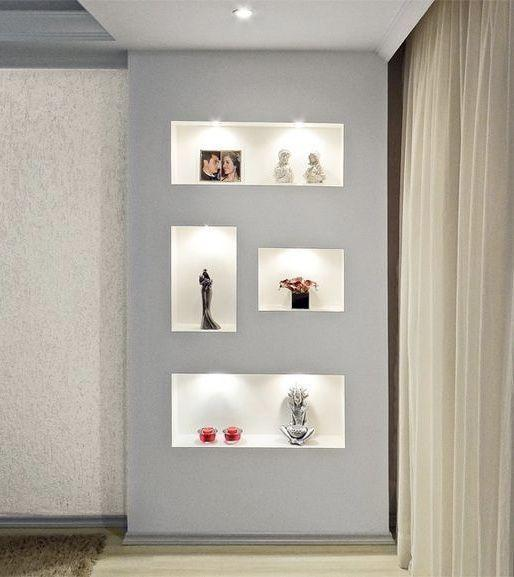 Plaster shelf: advantages and 60 projects to inspire 41