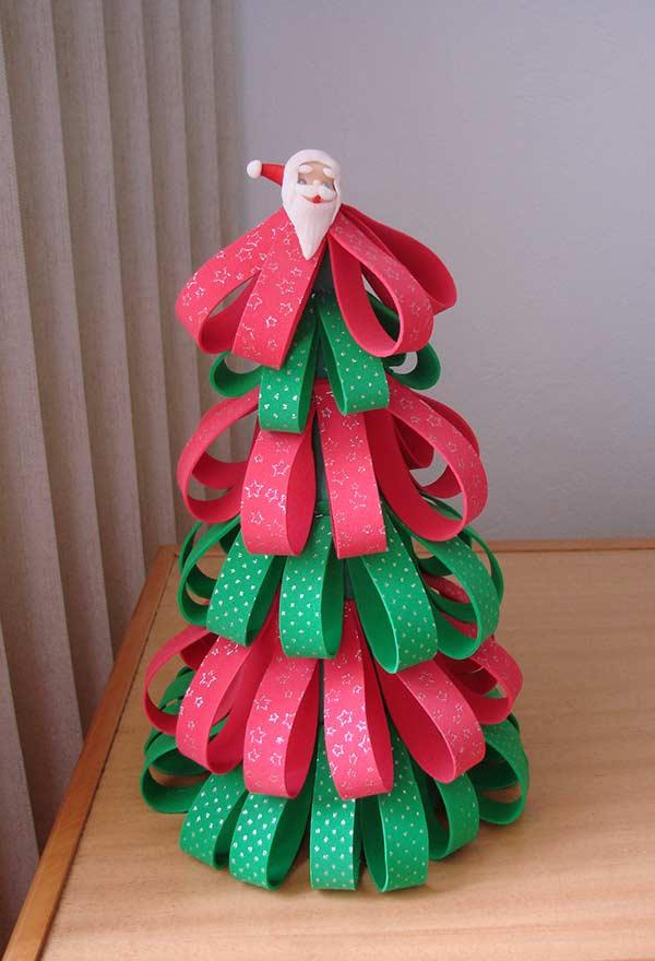Tree built with embossed EVA strips