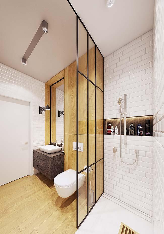 Modern decorated apartment bathroom