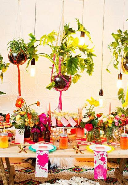 Natural and super colorful elements for gypsy party