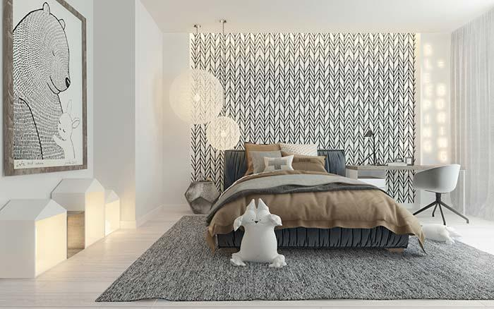 Wallcovering for double room