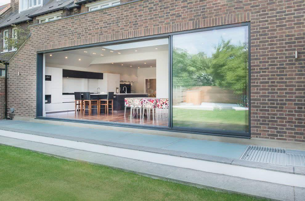 Sliding door: advantages of using and projects with photos 7