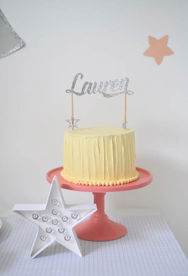 Moon and stars transform any cake