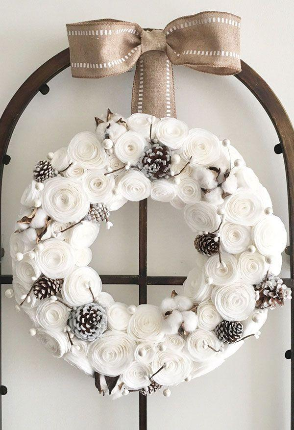 Coffee filter for Christmas decoration