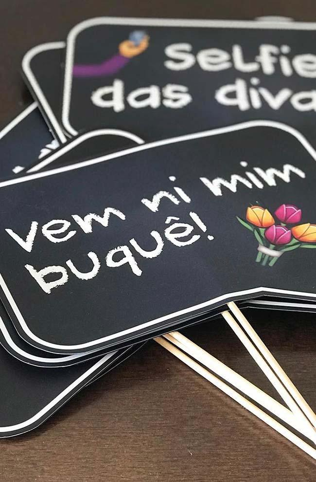Plaques for party with informal language