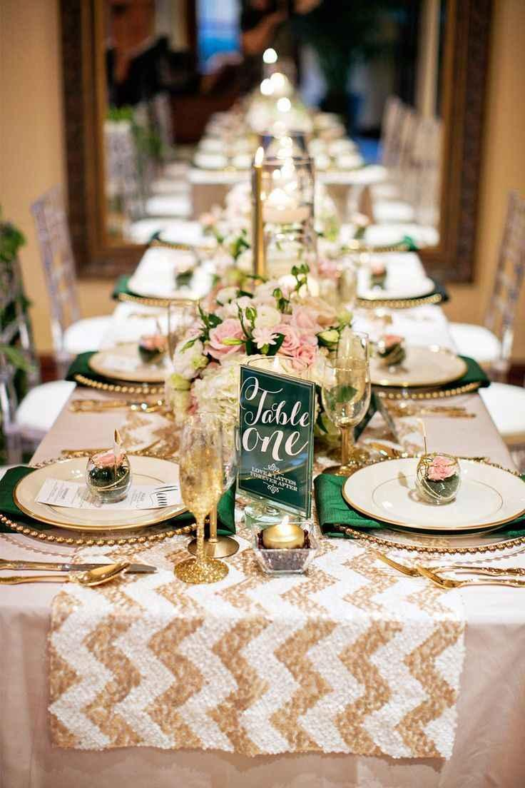 Golden wedding decoration: 60 ideas with photos to inspire 41