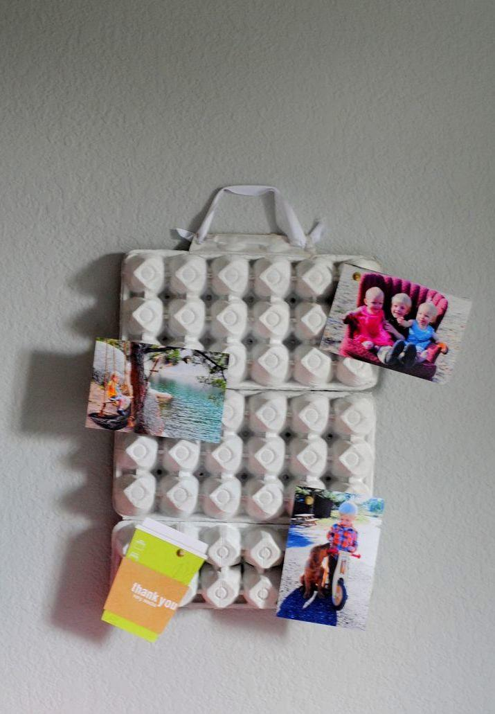 Photo Wall with Box of Eggs