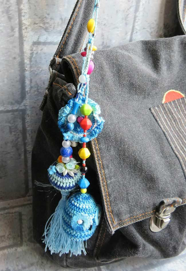 Crochet owls and beads to hang everywhere