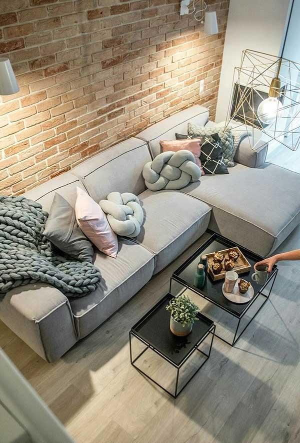 Pillows inspired by geometric shapes