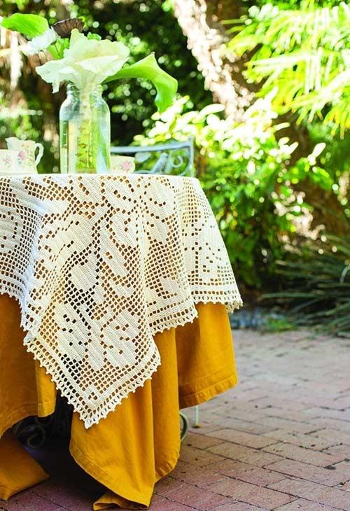 Crochet towel over top