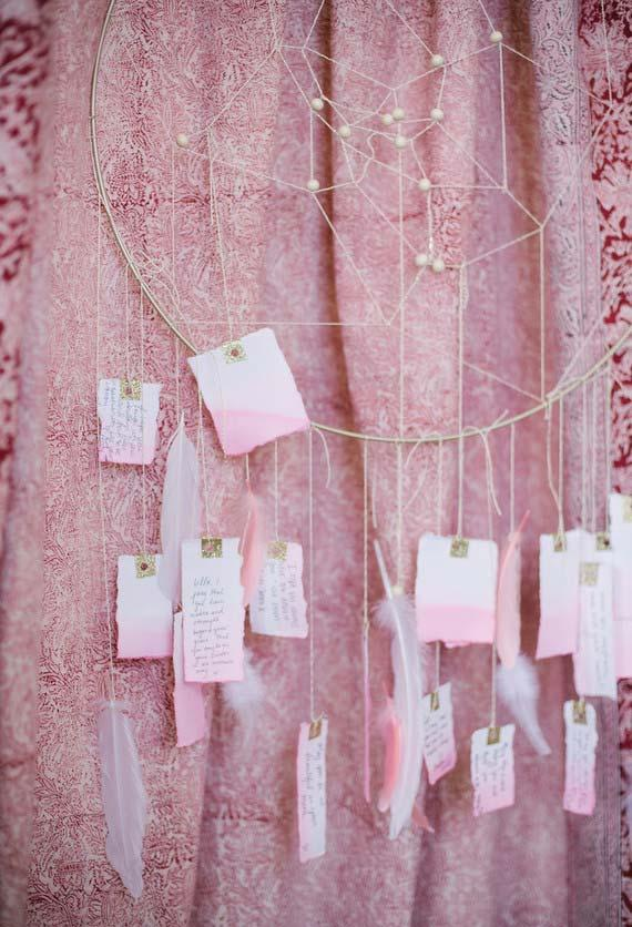 TAGs filled by guests and hung in the decoration