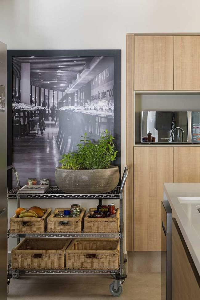 Highlight the environment with a kitchen frame