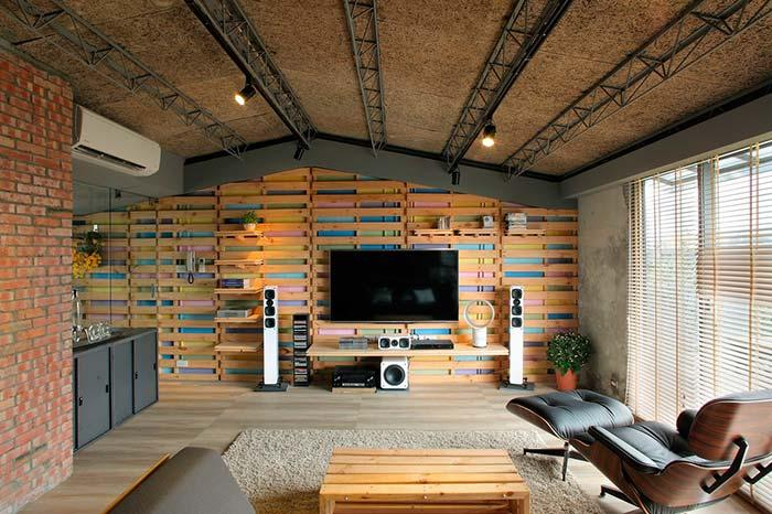 Wallcovering with pallets