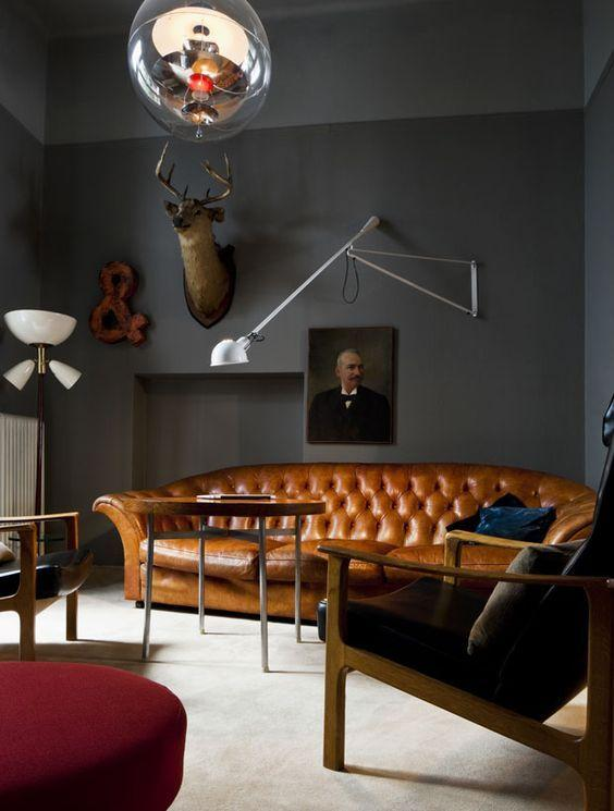 Leather sofa: 70 amazing models to decorate environments 17