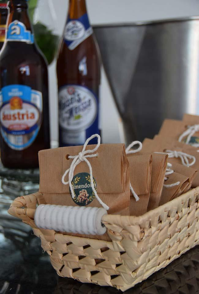 Individual kraft paper bags for party favors