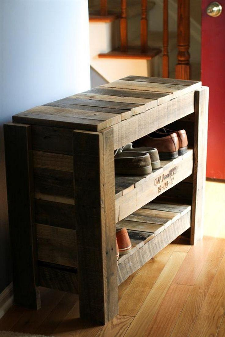 Shoe rack and pallet bench