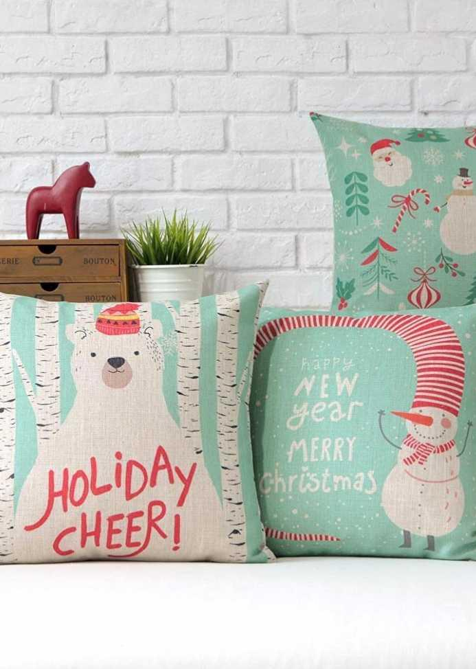 Christmas Cushions: 60 Decorating Ideas and How to Make 53