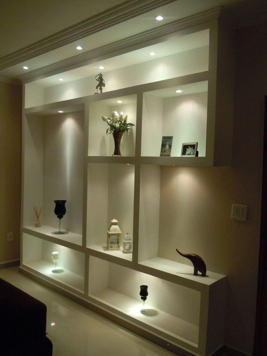 Plaster shelf: advantages and 60 projects to inspire 37