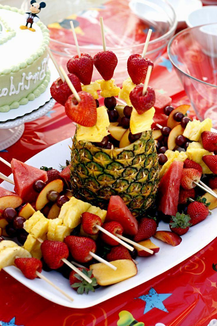 Fruit decorations for birthday party