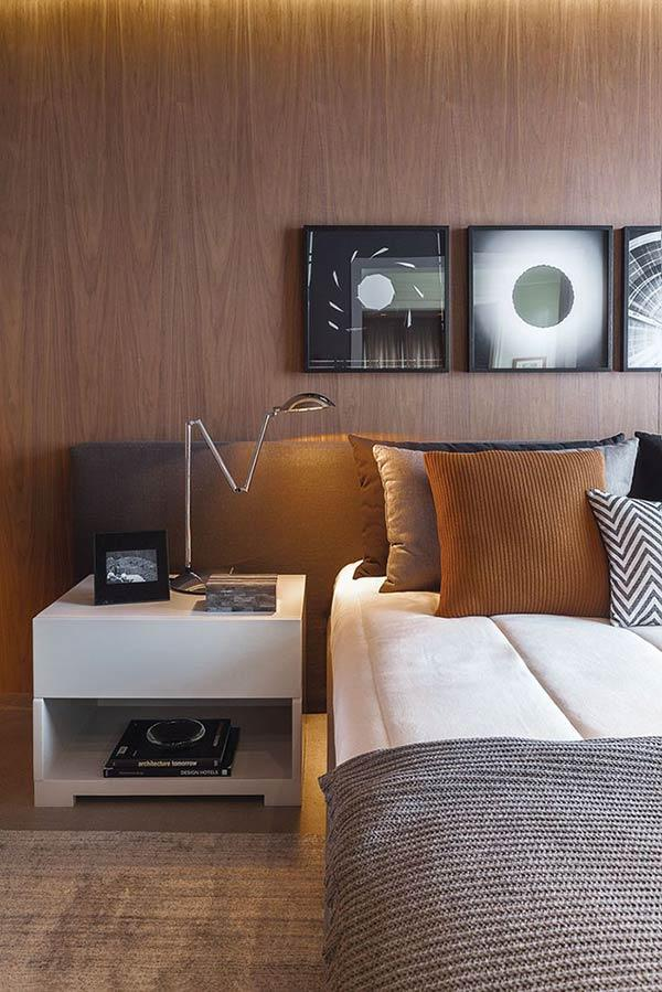 Upholstered headboard: 60 ideas and references to use in the decoration 4