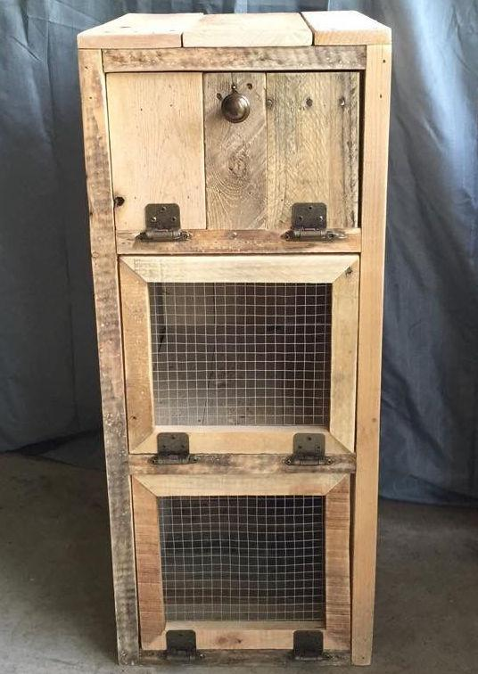 Pallet cupboard with drawers
