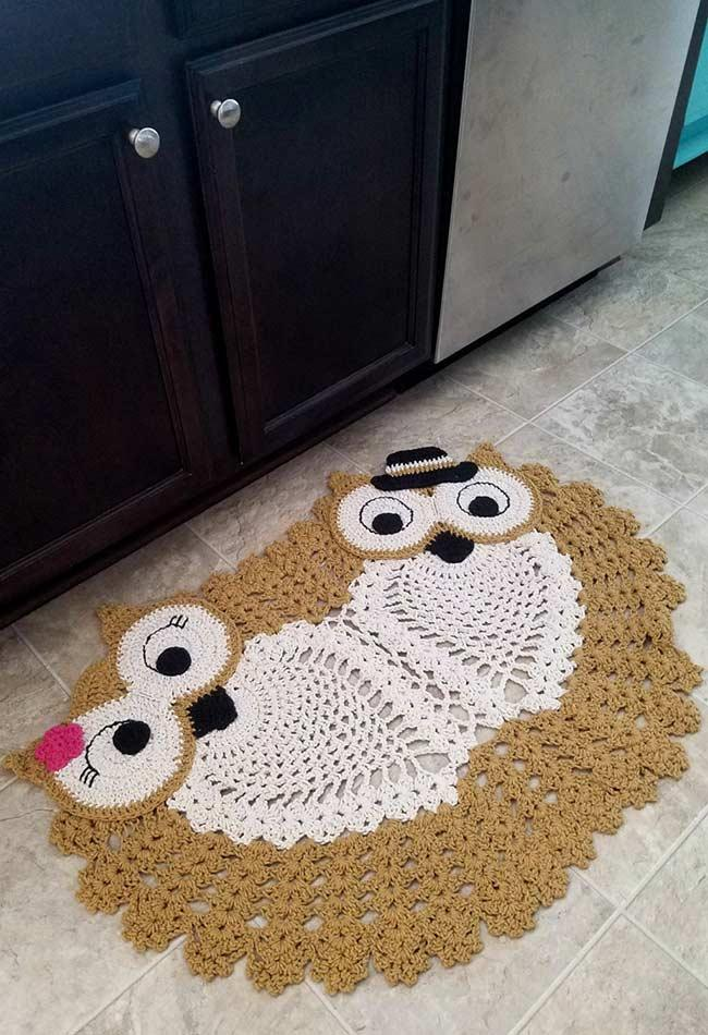 Carpet with the couple of owls