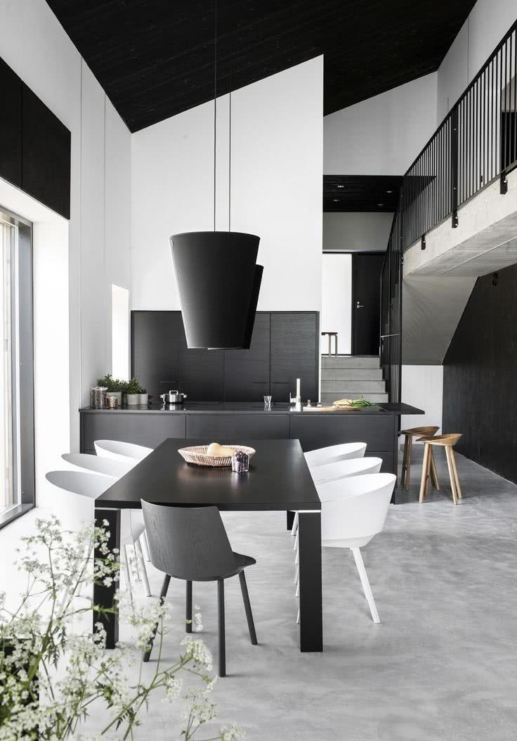 Black and White Decor: 60 Ideas to Inspire Environments 6