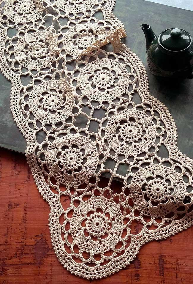 The delicacy of a crocheted piece