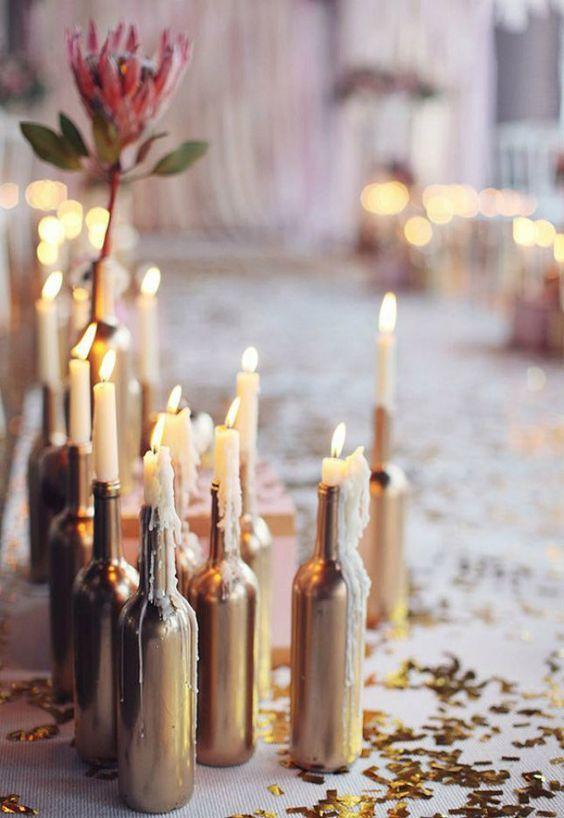 Table Decoration with Bottle: see beautiful ideas to decorate the table 25