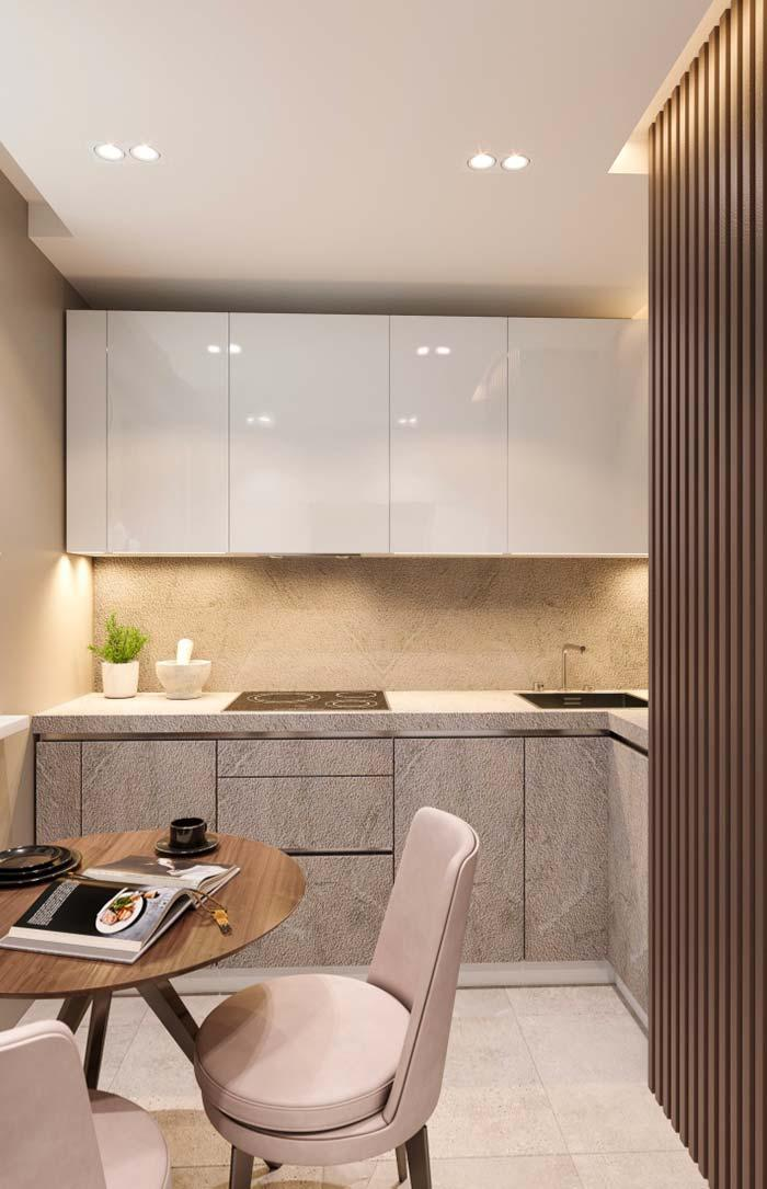 Kitchen benefits much from indirect lighting, as it values the dishes