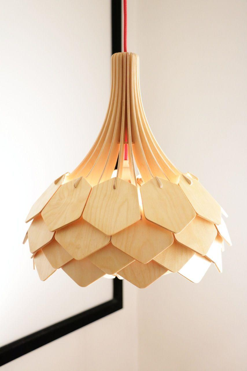 Wooden luminaire: a work of art