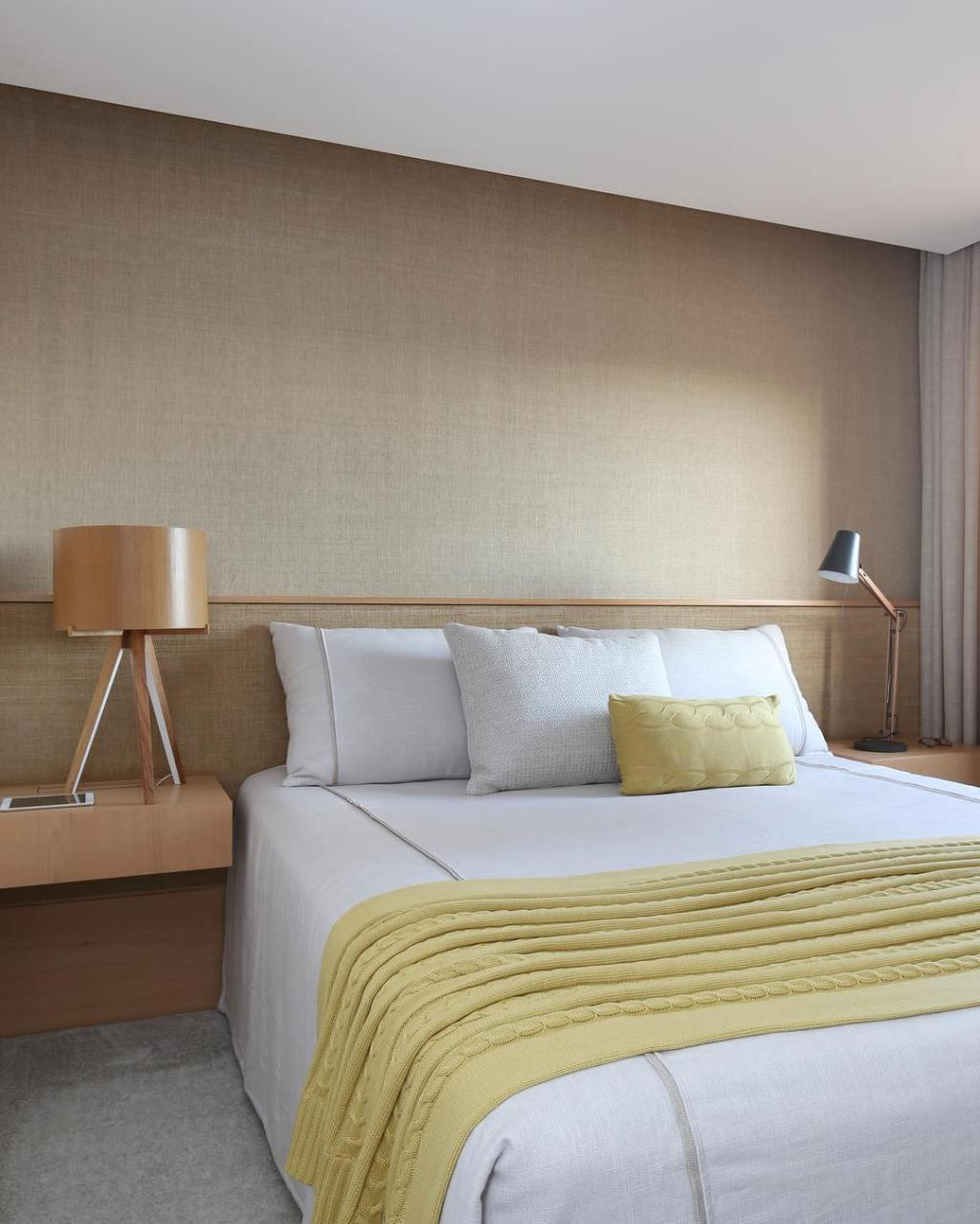 Upholstered headboard: 60 ideas and references to use in decor 9