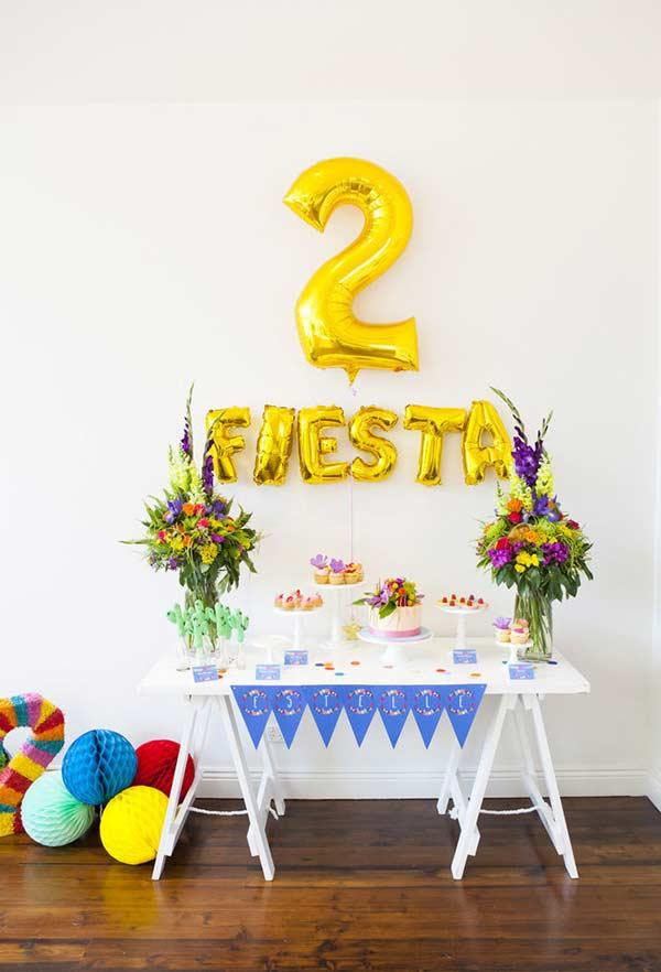 Colorful arrangements on party table