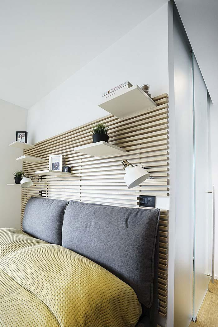 Creative idea: space to fit shelves and lamps.