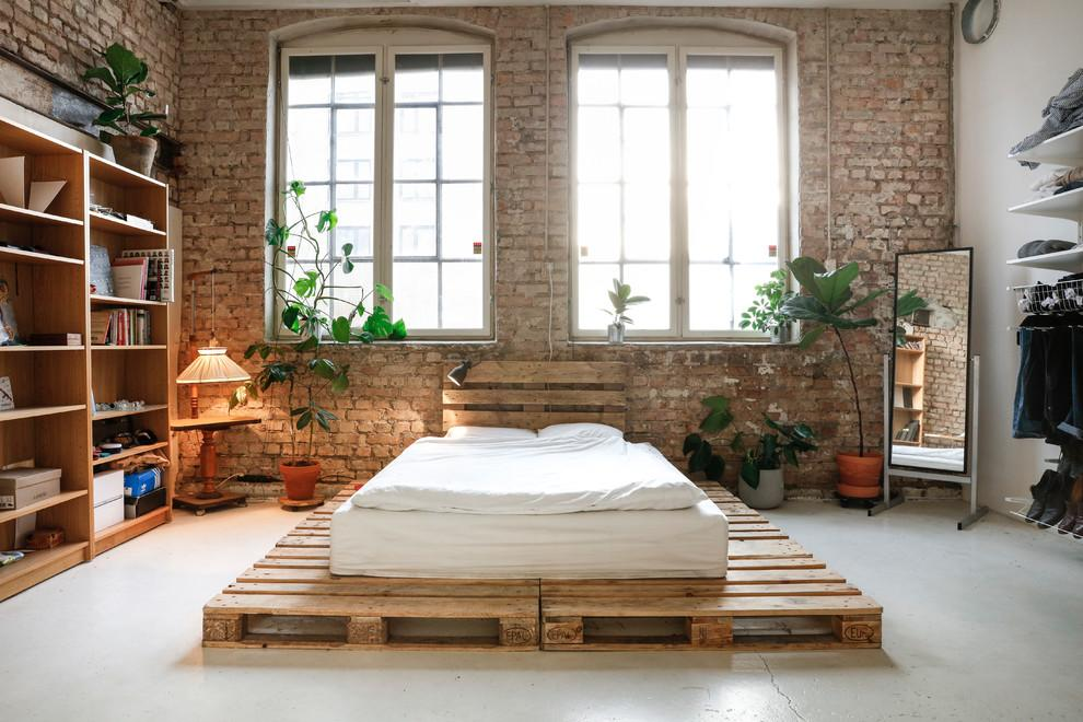 Bed of pallet: 60 models, photos and walkthrough 9