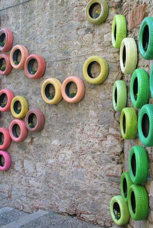Tire on the walls