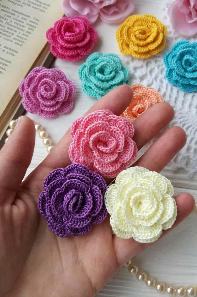Simple and easy crochet roses