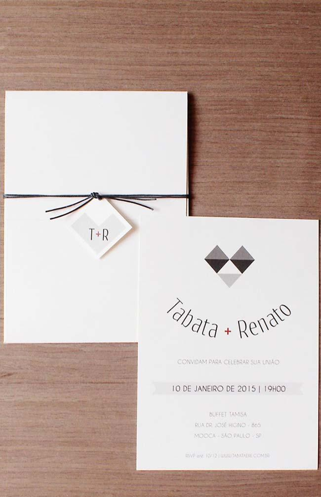 Simple, direct and objective wedding invitation