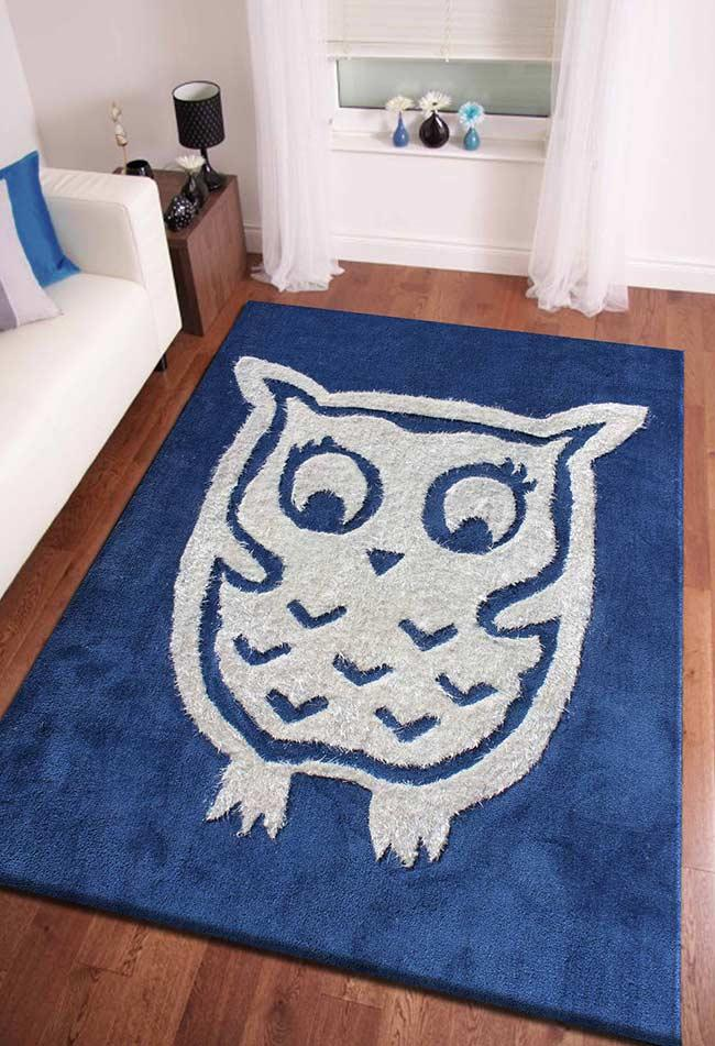 Oversized and oversized owl rug for the living room