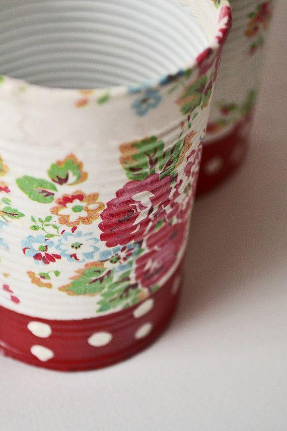 Decorated cans: 70 cool ideas to make at home 35